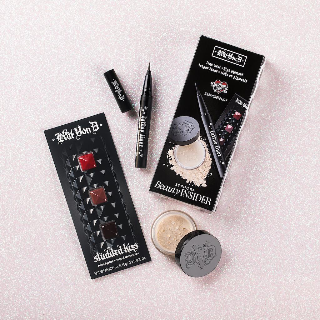 16da091dfda Tattoo Liner, Lock-It Setting Powder, and Studded Kiss Crème Lipstick. Not  a Sephora Beauty ...