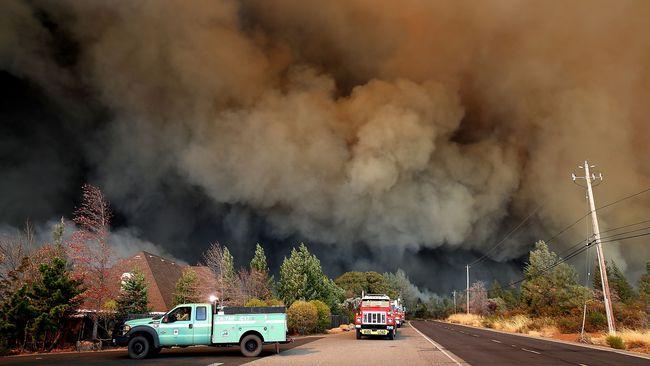 Insiden Kebakaran Hutan di California, Puluhan Ribu Warga Dievakuasi