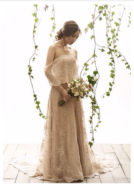 Vania Romoff - simple wedding dress - santacruzan