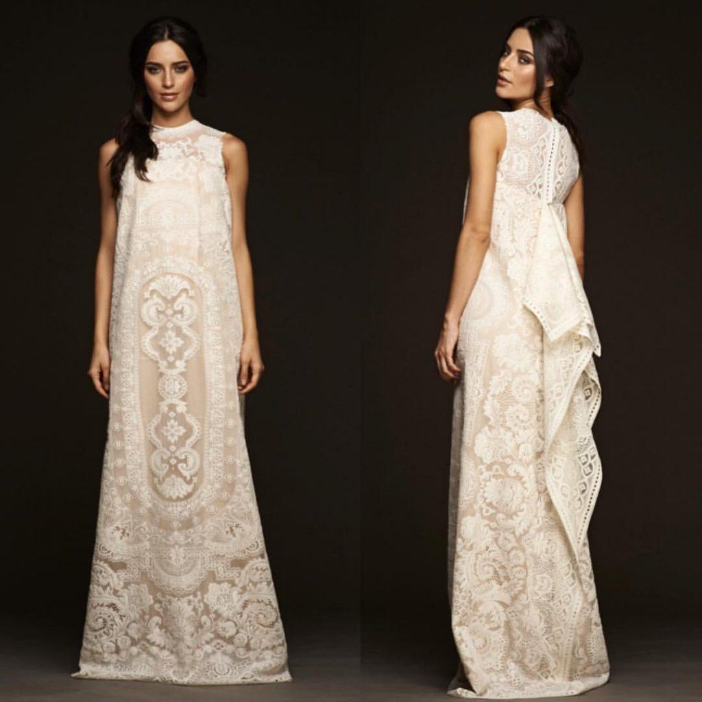 vaniaromoff - simple wedding dress - lace santacruzan