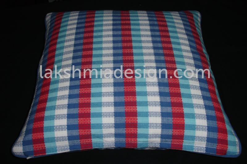 Blue and Red Color Cushion ...