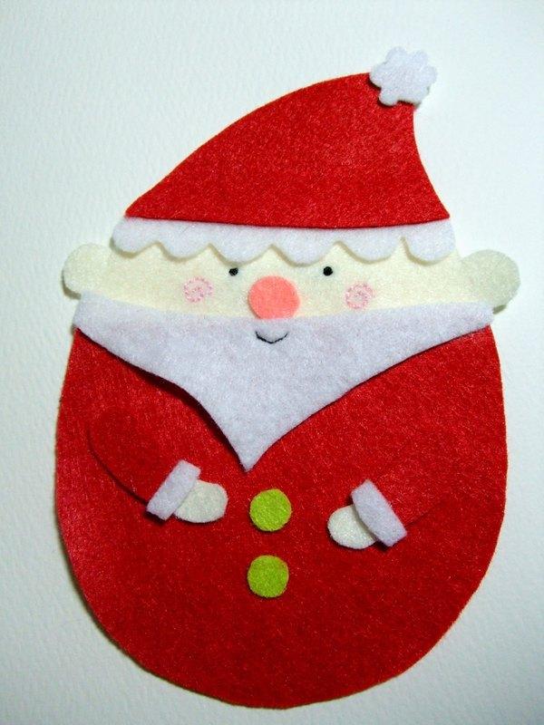 圣诞老人手工卡片