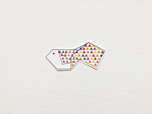 折纸金鱼贴纸