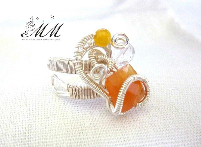 个性黄玛瑙戒指 - 设计师品牌