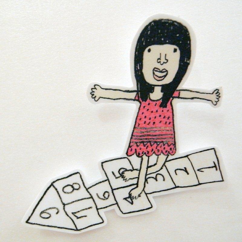 跳房子大貼紙 - 右手超人 | Pinkoi