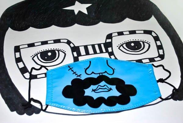 手绘pop口罩海报图片