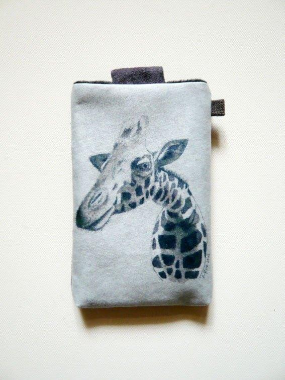 手绘插画风手机布套(三星note专用)-长颈鹿