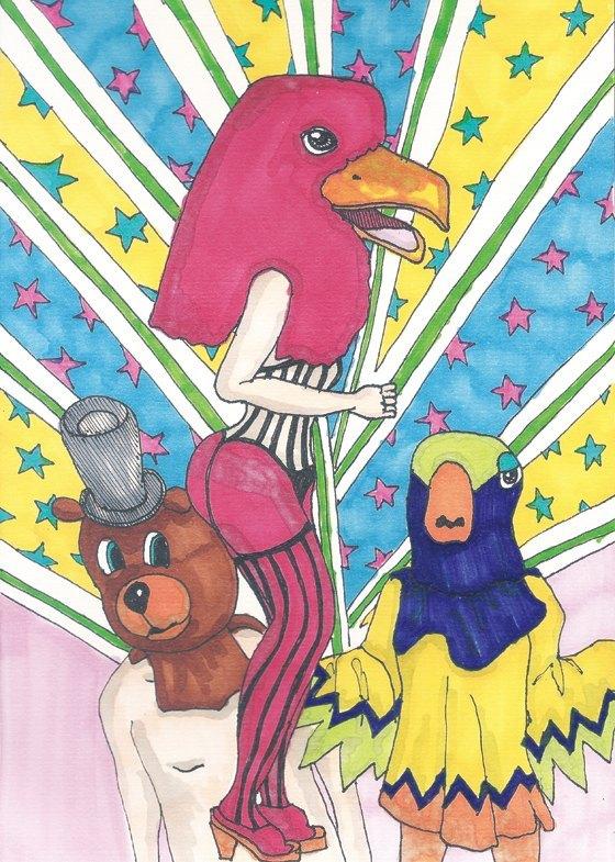 动物派对明信片 - 设计师品牌
