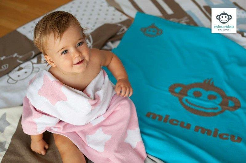 西班牙 micu micu 四季有机棉针织婴儿毯