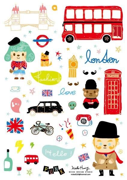 英国伦敦旅行贴纸