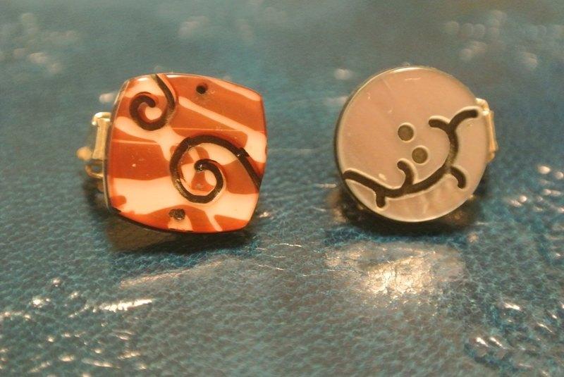 蒸笼的店 夹式耳环/ 藤与真 - 设计师品牌 蒸笼的店