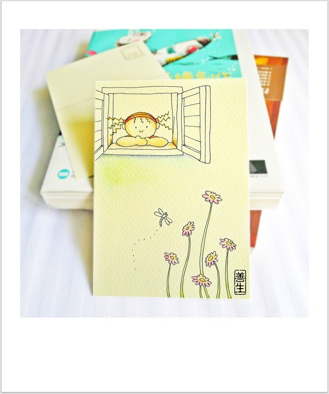 春天的祝福手绘明信片(postcard)-1 套 4 张