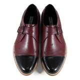 JAZZ M1120 Stitching Black Burgundy