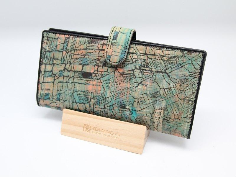 手创皮革蜡染长皮夹 - 设计师品牌 泰弘艺术 - pinkoi