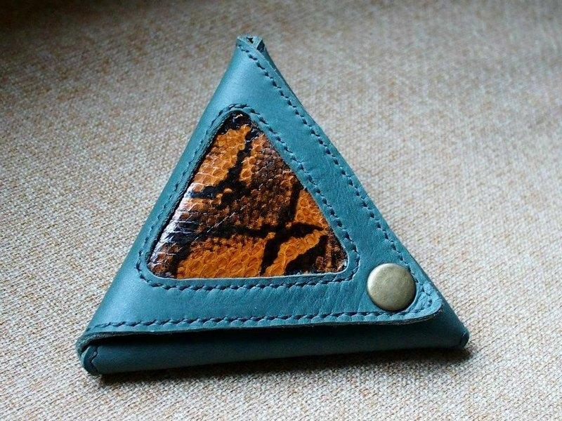 手缝三角形散银包 - 设计师品牌 beis leather