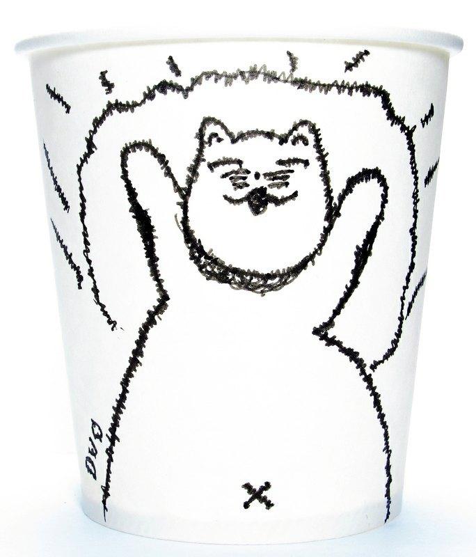 创意杯子手绘图片_设计分享