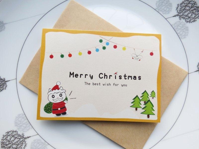 【圣诞赠品】圣诞猫咪来祝贺 圣诞卡片!(不贩售喔!
