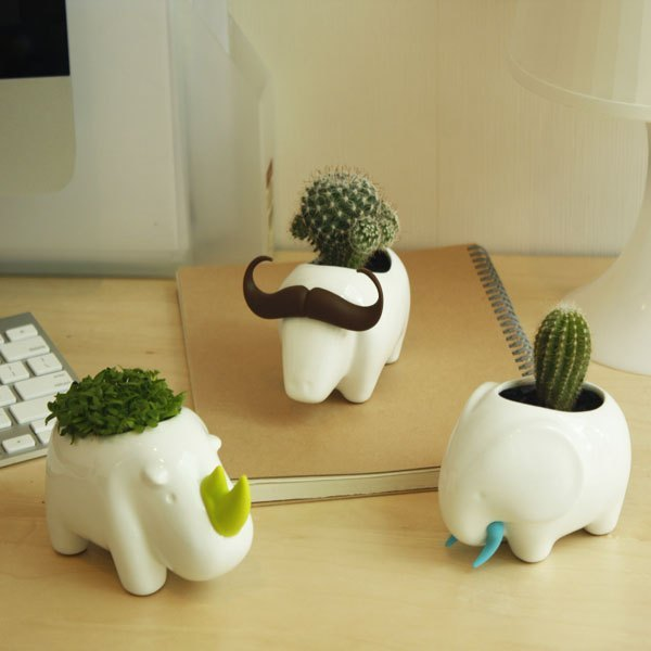 可爱手工动物花瓶