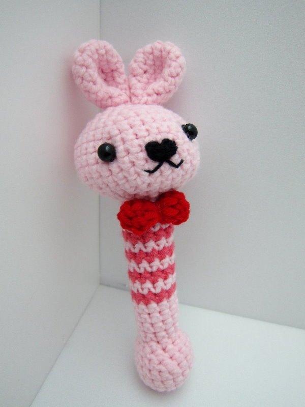 兔宝宝.毛线针织手摇铃 ~ 最可爱的弥月礼