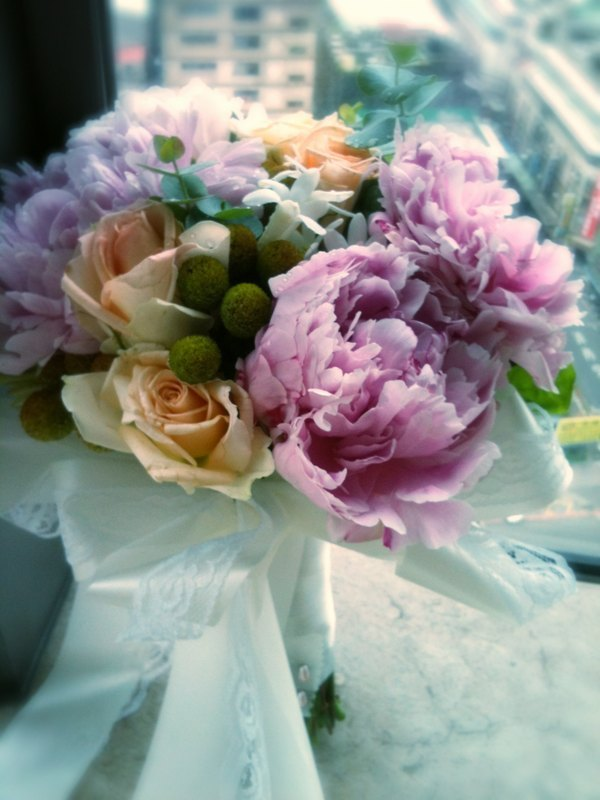 牡丹新娘捧花