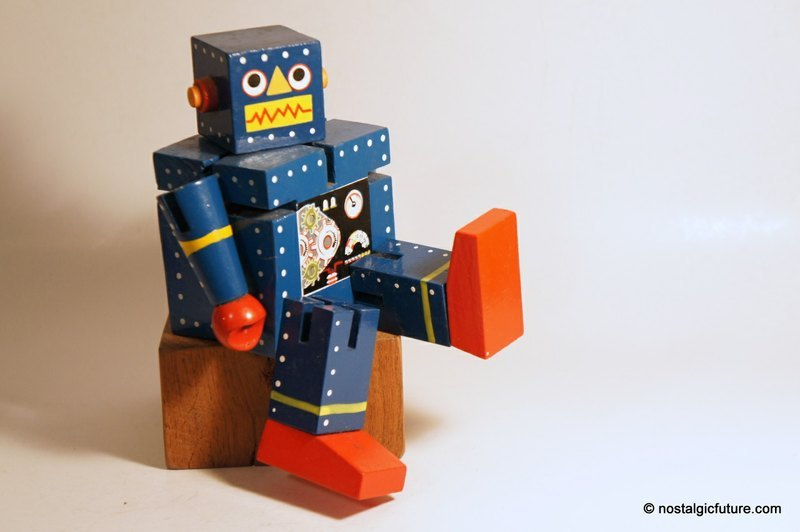 的蓝色木头机器