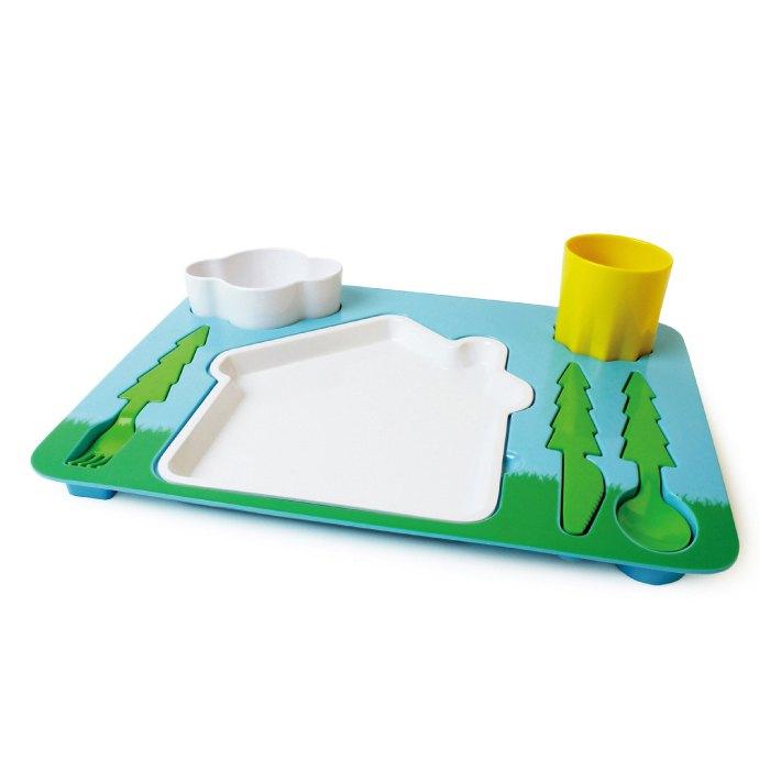 风景拼盘儿童餐具