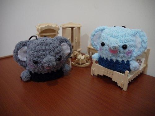 棉花糖动物钥匙包-小钥匙包(小灰象/小蓝象区) - 设计