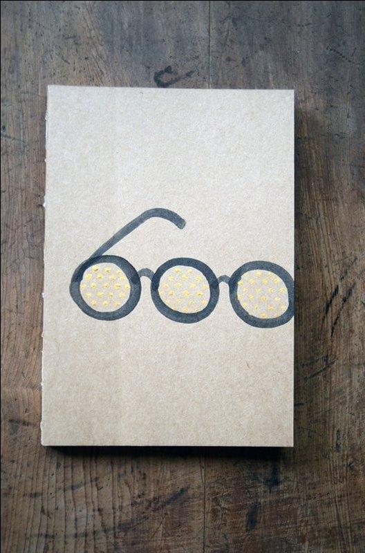 牛皮纸线装手绘笔记