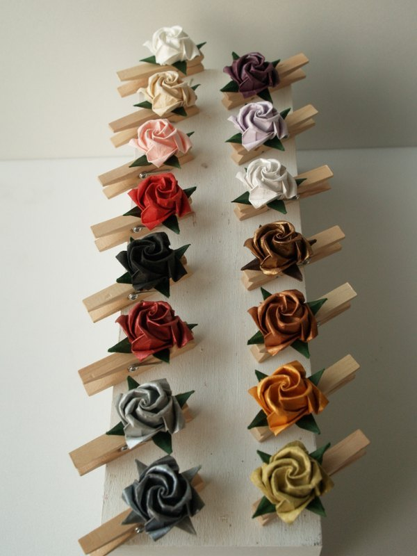 纸玫瑰memo木夹