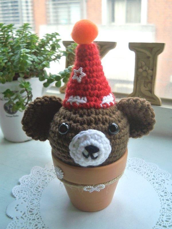 手工制作动物花瓶