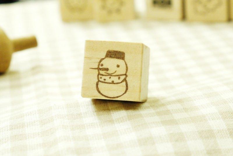 手刻橡皮章 // snowman雪人印章