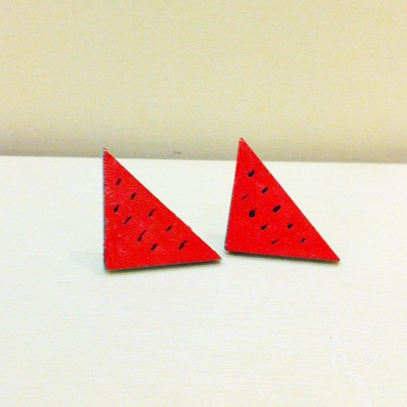 手绘木头耳针-三角红肉西瓜