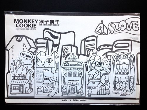 墙绘素材卡通黑白