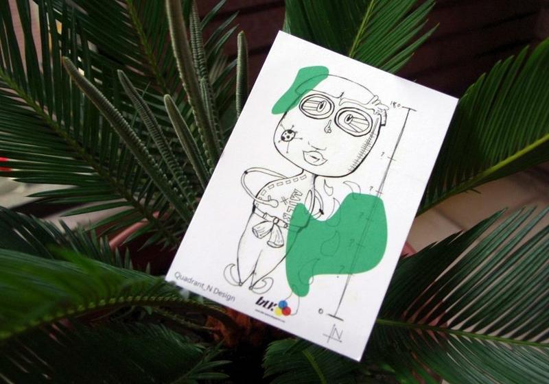 blr 手绘系列 明信片 象限角 联名 - blr | pinkoi