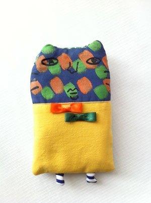 商品名称:手织布布动物手机袋_手工小制作