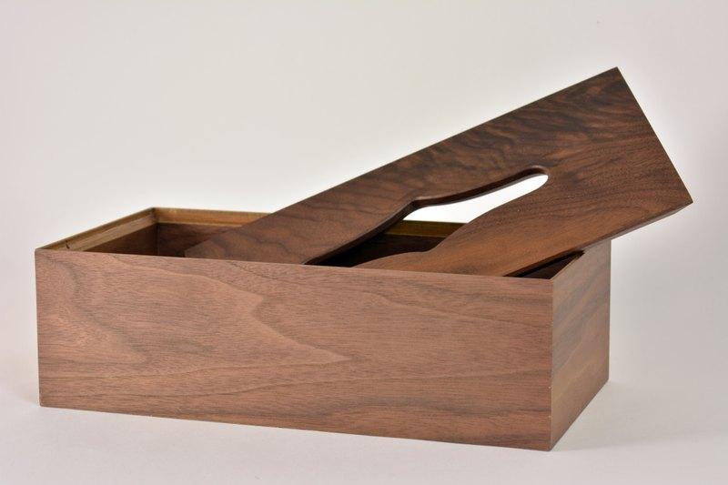 说明:上盖为美国黑胡桃木实木+底盒为合板与美国黑