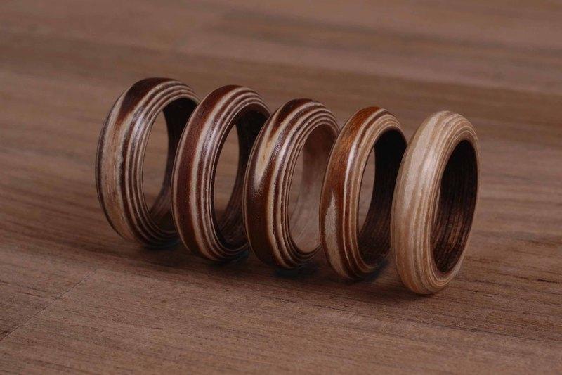 木头戒指 双色木系列 手工订制