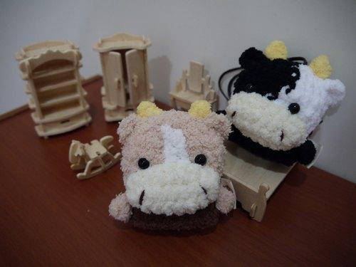棉花糖动物钥匙包-小钥匙包(巧克力牛/小乳牛区)