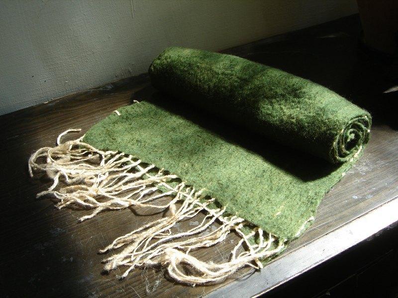 羊毛毡编织围巾