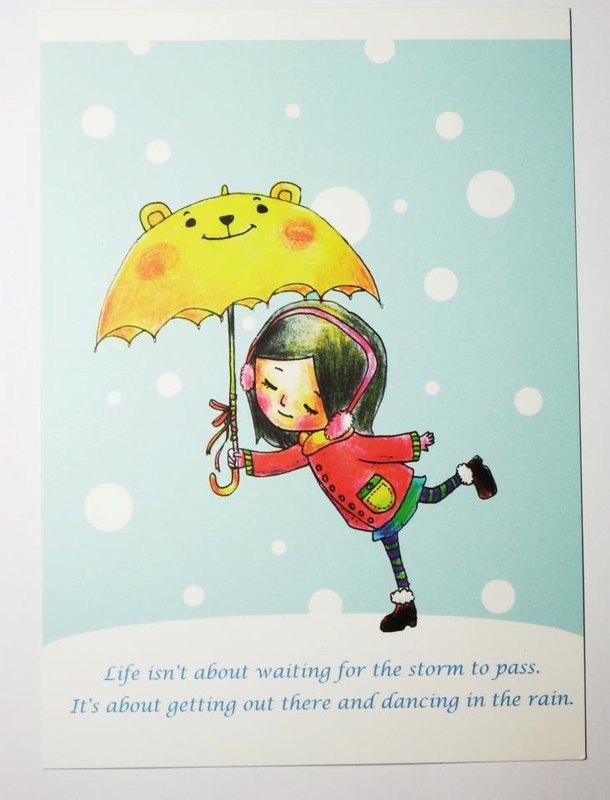 雪中漫步背影卡通图片