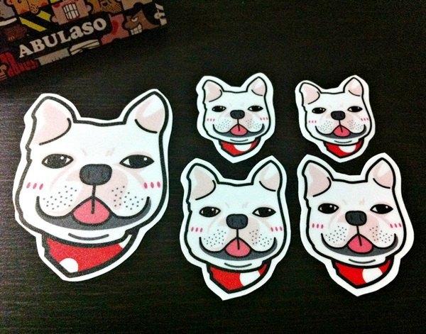 宠物防水贴纸组-法国斗牛犬( 防水 / 抗uv / 撕不破 )