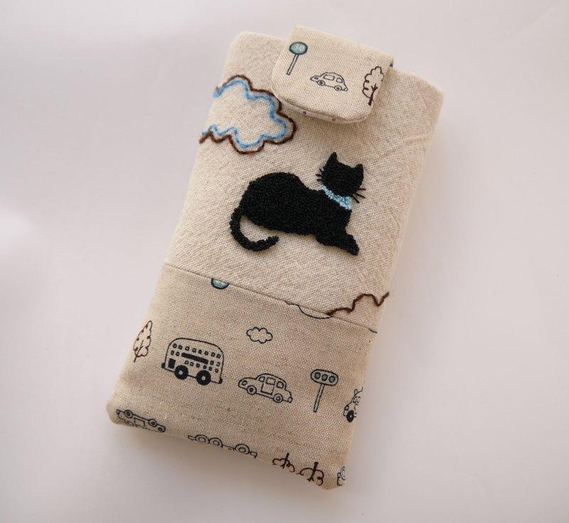 可客制化 超商取货 手工制作 原创设计 俄罗斯刺绣的黑猫背影, 在可爱