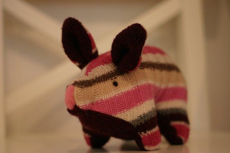 手工娃娃-混色编织小猪系列