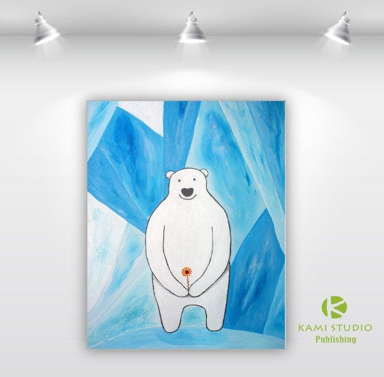 爱疯潮框—kami手绘工作室—北极熊