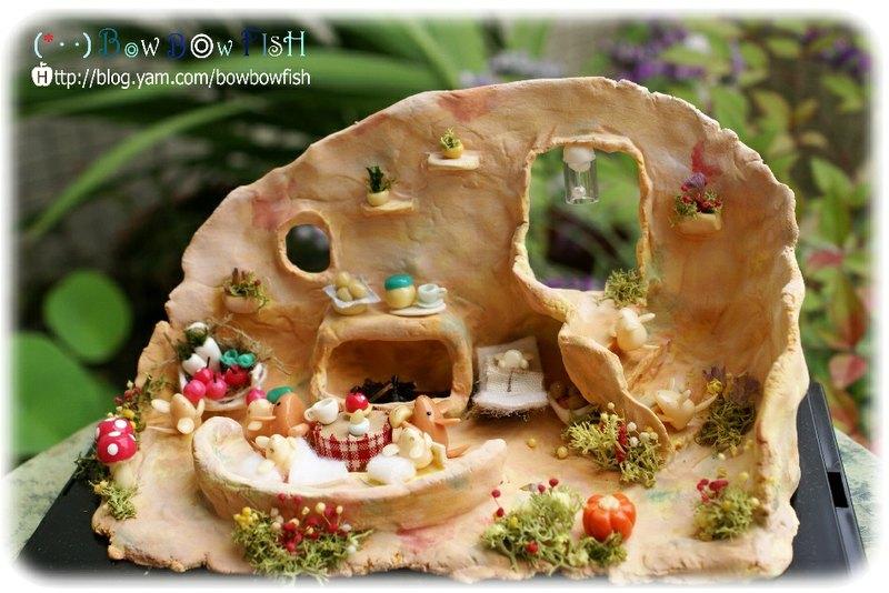 迷你森林动物系列黏土创作*老鼠家庭