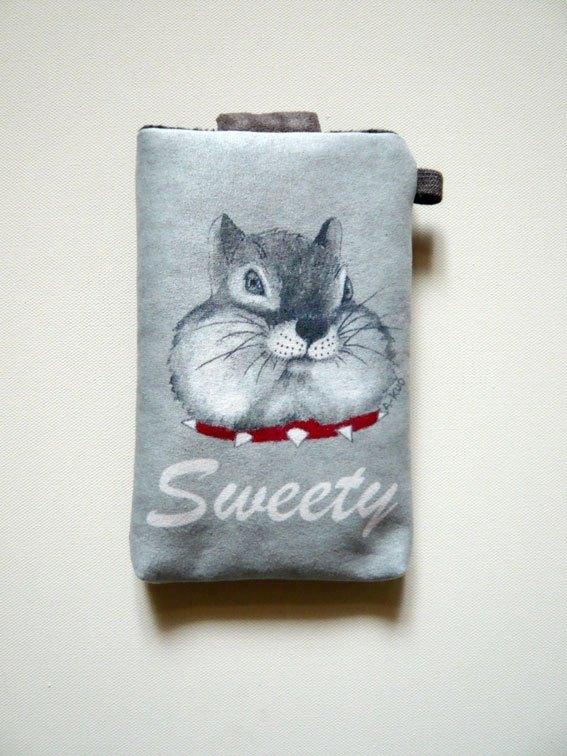手绘插画风手机布套(三星note专用)-花栗鼠