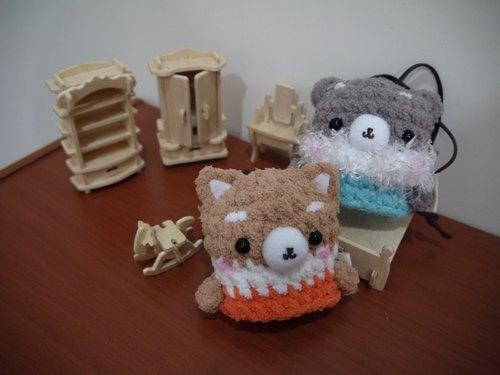 棉花糖动物钥匙包-小钥匙包(柴犬/雪那瑞/哈士奇/柯基