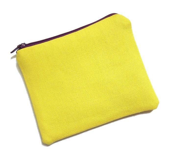 零钱包/手机套 彩色帆布(黄色)