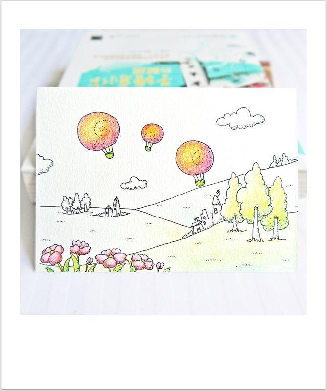 郊外踏青手绘明信片 (postcard)-1