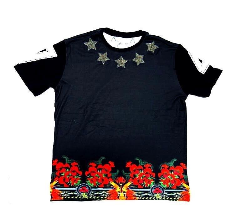 复古花朵国旗 t恤